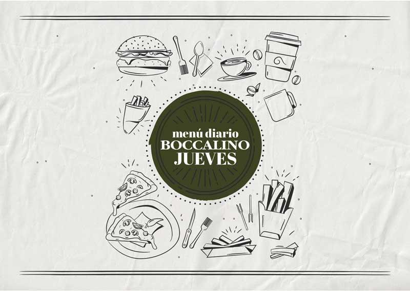 Menú diario Jueves - Restaurante Boccalino Sitges centro