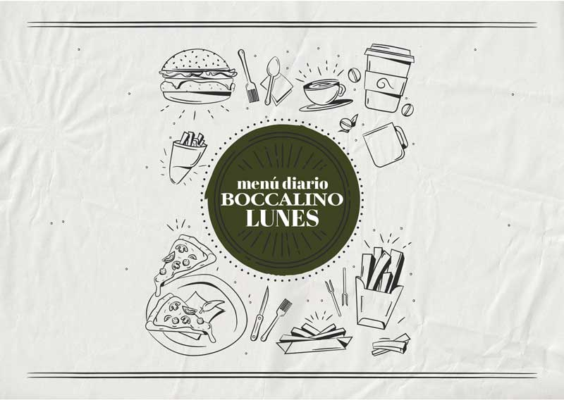 Menú diario restaurante Boccalino Sitges - Barcelona